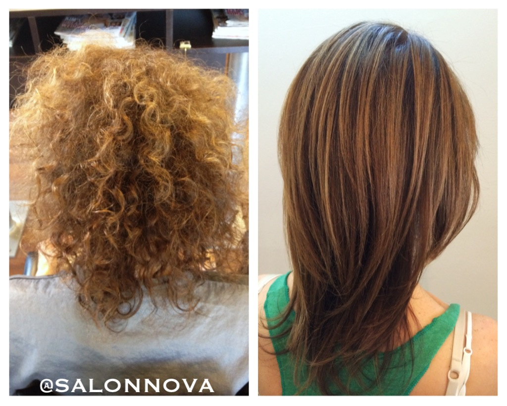 Before Amp After Cezanne Keratin Casey Salon Nova
