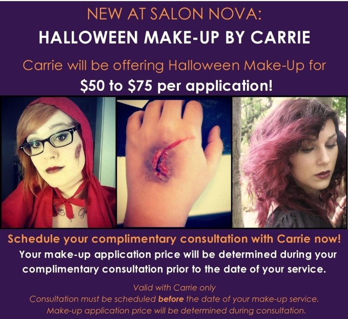 Carrie's Halloween Make-Up