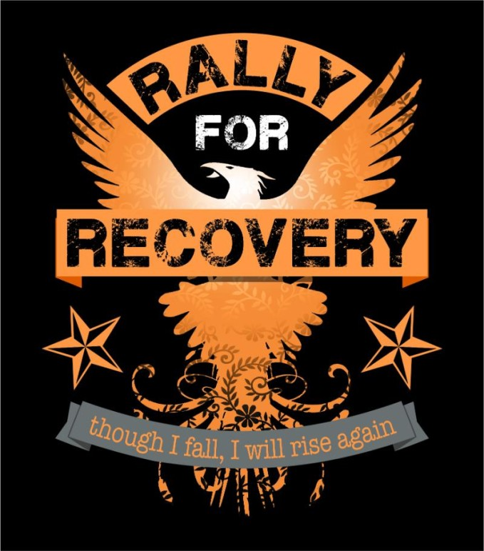 Rally For Recovery Logo Black